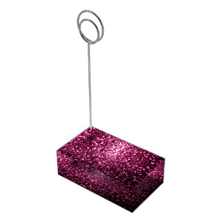 Beautiful Pink glitter sparkles Table Number Holder