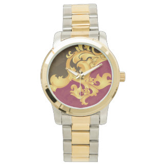 Beautiful Pink gold floral elegance Wrist Watch