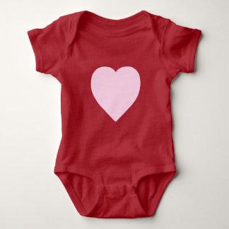 Beautiful Pink Heart Design Baby Bodysuit