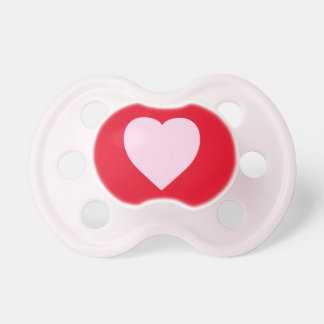 Beautiful Pink Heart Design Baby Pacifier