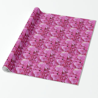 Beautiful, pink hydrangeas, Birthday gift wrap. Wrapping Paper