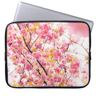 Beautiful Pink Japanese Cherry Blossom Sakura Laptop Computer Sleeve