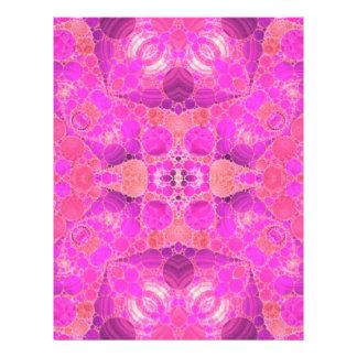 Beautiful Pink Letterhead Design