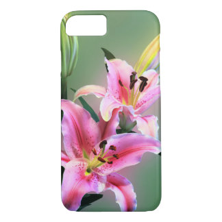 Beautiful Pink Lily Flower Bloom iPhone 7 Case