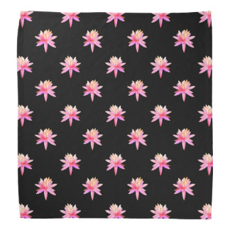 Beautiful Pink Lily Lotus Art Cool Trendy Unique Bandana