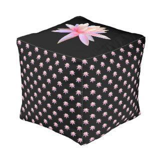 Beautiful Pink Lily Lotus Art Cool Trendy Unique Pouf