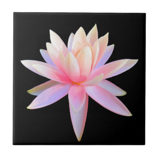 Beautiful Pink Lily Lotus Art Cool Unique Tiles