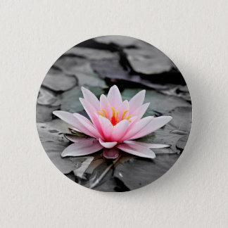 Beautiful Pink Lotus Flower Waterlily Zen Art 2 Inch Round Button