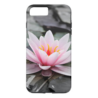 Beautiful Pink Lotus Flower Waterlily Zen Art iPhone 8 Plus/7 Plus Case