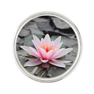 Beautiful Pink Lotus Flower Waterlily Zen Art Lapel Pin