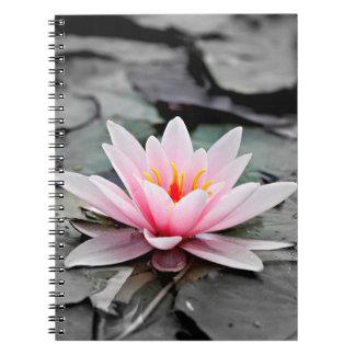 Beautiful Pink Lotus Flower Waterlily Zen Art Notebooks