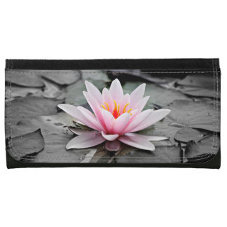 Beautiful Pink Lotus Flower Waterlily Zen Art Wallet