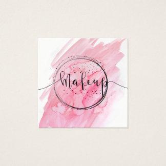 ★ Beautiful Pink Makeup Business Square Business Card