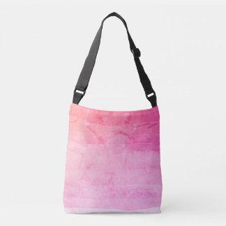 Beautiful pink ombre batik marbled bag