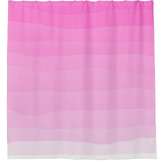 Beautiful pink ombre shower curtain
