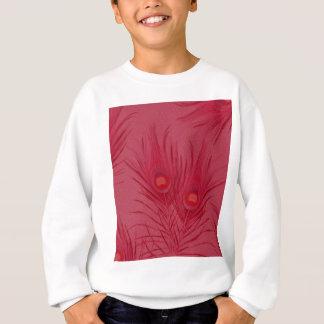 Beautiful Pink Peacock Feathers Pattern Sweatshirt