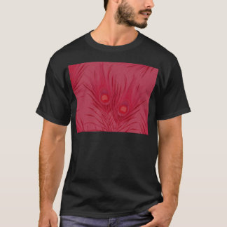 Beautiful Pink Peacock Feathers Pattern T-Shirt