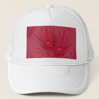Beautiful Pink Peacock Feathers Pattern Trucker Hat