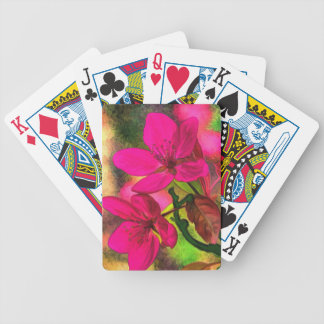 Beautiful pink red apple blossom. Girly Poker Deck