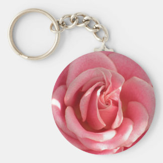 Beautiful pink rose bloom key chain