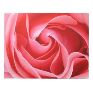 Beautiful pink rose blossom notepad