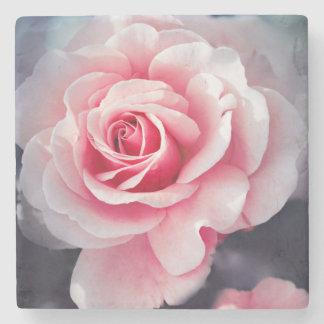 Beautiful Pink Rose Floral Photo Stone Coaster