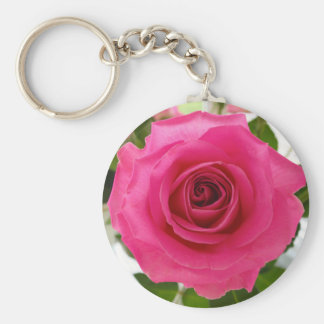 Beautiful pink rose keychains