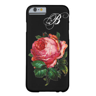 BEAUTIFUL PINK ROSE MONOGRAM BARELY THERE iPhone 6 CASE