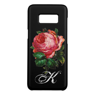 BEAUTIFUL PINK ROSE MONOGRAM,Black Case-Mate Samsung Galaxy S8 Case