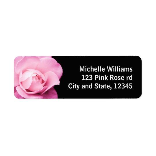 Beautiful pink rose photo return address label