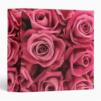 Beautiful Pink Roses 3 Ring Binders