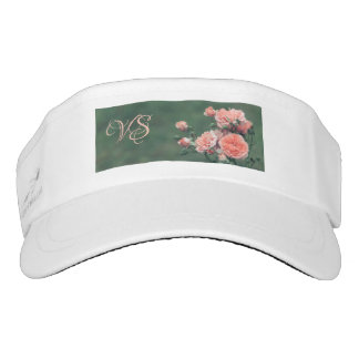 Beautiful pink roses. Add your monogram. Visor