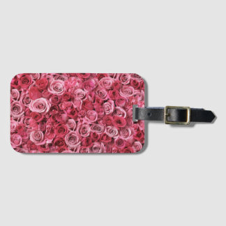 Beautiful Pink Roses Luggage Tag