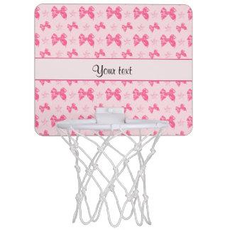 Beautiful Pink Satin Bows Mini Basketball Hoop