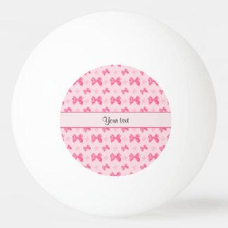 Beautiful Pink Satin Bows Ping Pong Ball