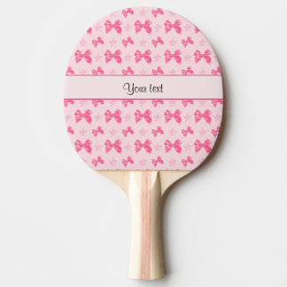Beautiful Pink Satin Bows Ping Pong Paddle