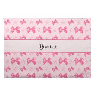 Beautiful Pink Satin Bows Place Mat