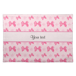 Beautiful Pink Satin Bows Placemat