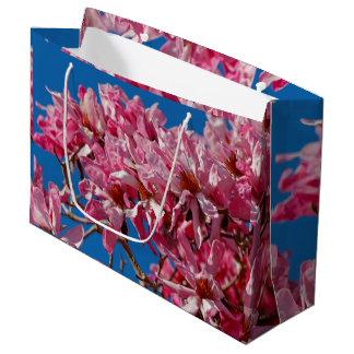 Beautiful Pink Saucer Magnolia Blossoms Large Gift Bag