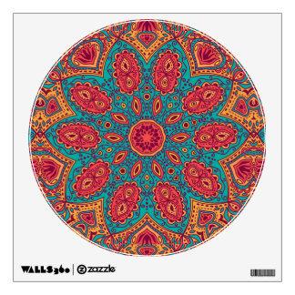Beautiful Pink Teal Orange Zen Pattern Wall Sticker