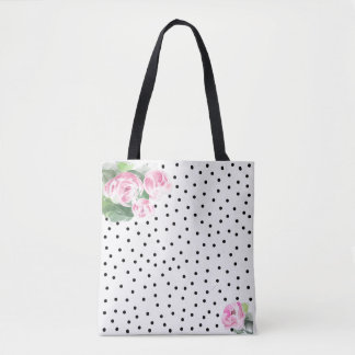 Beautiful Pink Watercolor Roses Tote