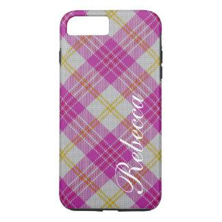 Beautiful Pink White Yellow Scottish Tartan Plaid iPhone 8 Plus/7 Plus Case