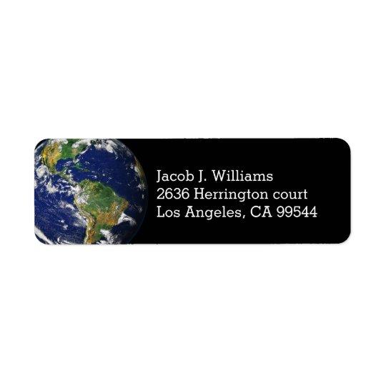 Beautiful Planet Earth Return Address Label