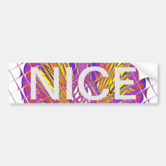 Beautiful Plum Amazing Colorful Pattern Design. Bumper Sticker