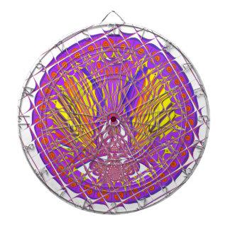 Beautiful Plum Amazing Colorful Pattern Design. Dartboard