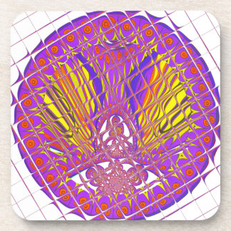 Beautiful Plum Amazing Colorful Pattern Design. Drink Coaster