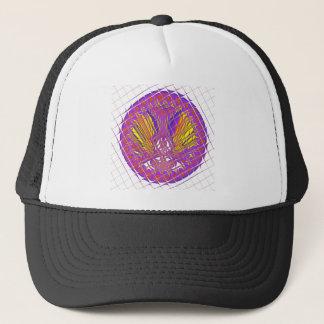 Beautiful Plum Amazing Colorful Pattern Design. Trucker Hat