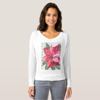 BEAUTIFUL POINSETTIA FLOWER T-SHIRT