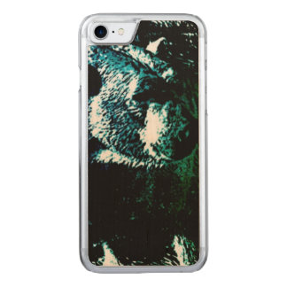 Beautiful polar bear on black background carved iPhone 8/7 case