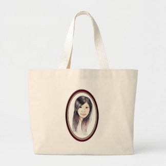 Beautiful Portrait of an Asian Woman Large Tote Bag